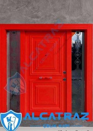 Kırmızı Dış Kapı Villa Kapısı Çelik Kapı