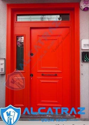 Kırmızı Dış Kapı Villa Kapısı Çelik Kapı Fiyatları Modelleri