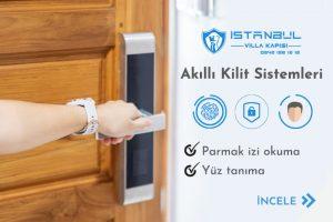şifreli villa kapısı parmak izi kilit sistemi akıllı villa kapısı modelleri