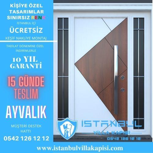 Ayvalık Villa Kapısı Modelleri Dış Etkenlere Dayanıklı Ölçüye Özel Üretim Kompozit Kompak Villa Kapıları