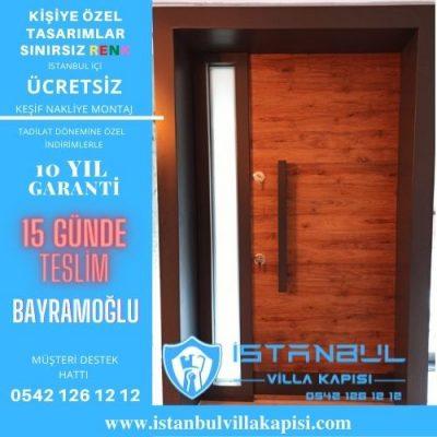 Bayramoğlu Villa Kapısı Modelleri Dış Etkenlere Dayanıklı Ölçüye Özel Üretim Kompozit Kompak Villa Kapıları