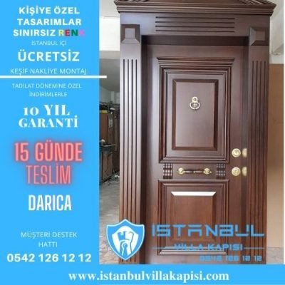 Darıca Villa Kapısı Çelik Kapı İstanbul Villa Kapısı Modelleri