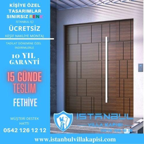 Fethiye Villa Kapısı Modelleri İstanbul Villa Kapısı Kompozit Çelik Kapı