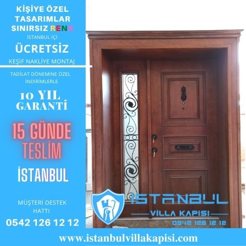 İstanbul Villa Kapısı Modelleri İstanbul Villa Kapısı Kompozit Çelik Kapı
