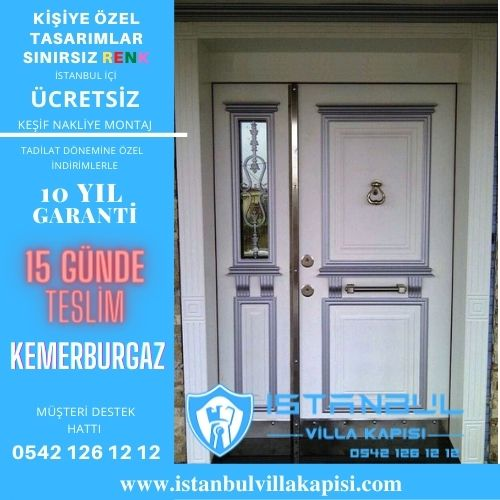 Kemerburgaz Villa Kapısı Modelleri İstanbul Villa Kapısı Kompozit Çelik Kapı