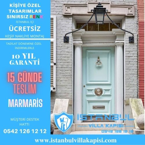 Marmaris Villa Kapısı Modelleri İstanbul Villa Kapısı Kompozit Çelik Kapı