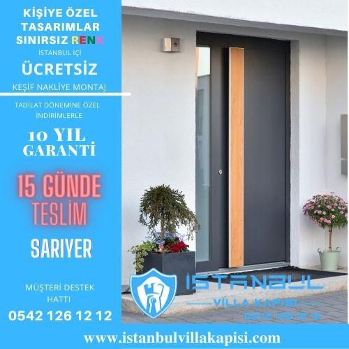 Sarıyer Villa Kapısı Modelleri İstanbul Villa Kapısı Kompozit Çelik Kapı