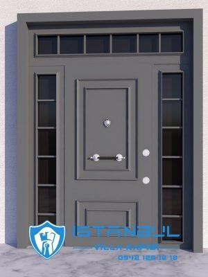 istanbul villa kapısı antrasit gri özel üretim villa kapısı steel doors haüsturen çelik kapı villa giriş kapısı camlı kapı modelleri kompozit villa kapısı