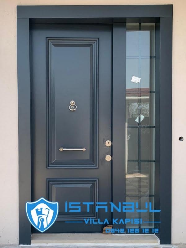 istanbul villa kapısı antrasit özel üretim villa kapısı steel doors haüsturen çelik kapı villa giriş kapısı camlı kapı modelleri kompozit villa kapısı