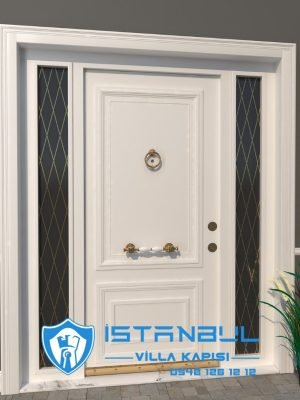 istanbul villa kapısı beyaz altın ferforje özel üretim villa kapısı steel doors haüsturen çelik kapı villa giriş kapısı camlı kapı modelleri kompozit villa kapısı