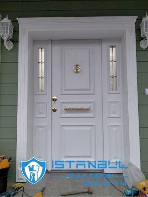 istanbul villa kapısı beyaz ferforjeli özel üretim villa kapısı steel doors haüsturen çelik kapı villa giriş kapısı camlı kapı modelleri kompozit villa kapısı