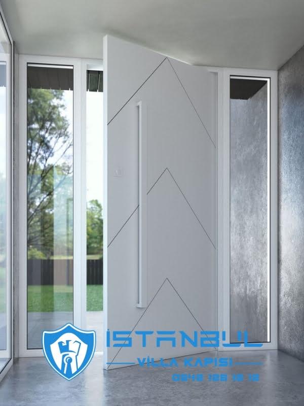 istanbul villa kapısı beyaz kompak özel üretim villa kapısı steel doors haüsturen çelik kapı villa giriş kapısı camlı kapı modelleri kompozit villa kapısı