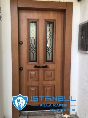 istanbul villa kapısı camlı tek kanat özel üretim villa kapısı steel doors haüsturen çelik kapı villa giriş kapısı camlı kapı modelleri kompozit villa kapısı