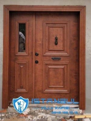 istanbul villa kapısı ceviz özel üretim villa kapısı steel doors haüsturen çelik kapı villa giriş kapısı camlı kapı modelleri kompozit villa kapısı