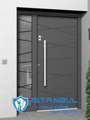 istanbul villa kapısı çizgili asimetrik özel üretim villa kapısı steel doors haüsturen çelik kapı villa giriş kapısı camlı kapı modelleri kompozit villa kapısı