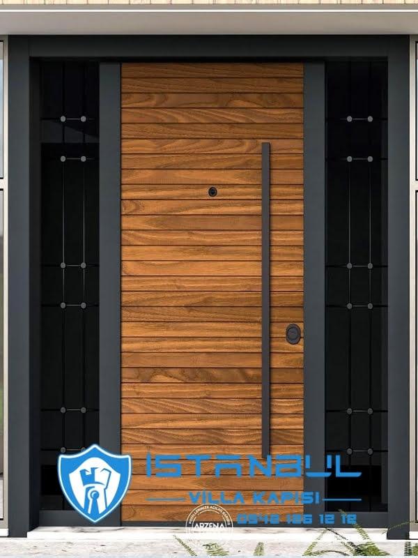 istanbul villa kapısı çizgili özel üretim villa kapısı steel doors haüsturen çelik kapı villa giriş kapısı camlı kapı modelleri kompozit villa kapısı