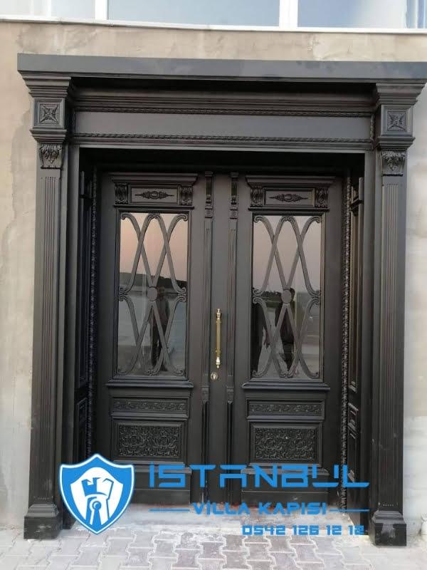 istanbul villa kapısı doğal ahşap özel üretim villa kapısı steel doors haüsturen çelik kapı villa giriş kapısı camlı kapı modelleri kompozit villa kapısı