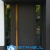 istanbul villa kapısı gri kompozit özel üretim villa kapısı steel doors haüsturen çelik kapı villa giriş kapısı camlı kapı modelleri kompozit villa kapısı