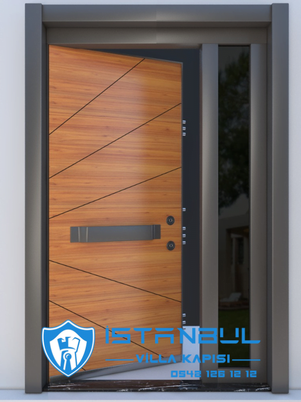 istanbul villa kapısı güneş özel üretim villa kapısı steel doors haüsturen çelik kapı villa giriş kapısı camlı kapı modelleri kompozit villa kapısı