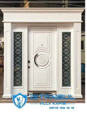 istanbul villa kapısı kabartmalı lüks özel üretim villa kapısı steel doors haüsturen çelik kapı villa giriş kapısı camlı kapı modelleri kompozit villa kapısı