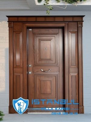 istanbul villa kapısı klasik ahşap özel üretim villa kapısı steel doors haüsturen çelik kapı villa giriş kapısı camlı kapı modelleri kompozit villa kapısı