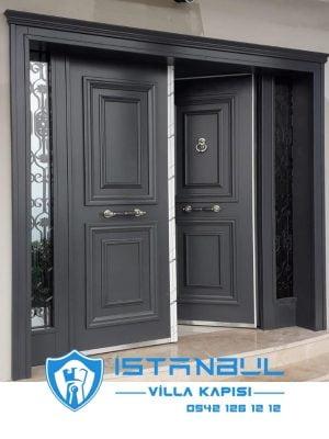 istanbul villa kapısı klasik antrasit özel üretim villa kapısı steel doors haüsturen çelik kapı villa giriş kapısı camlı kapı modelleri kompozit villa kapısı