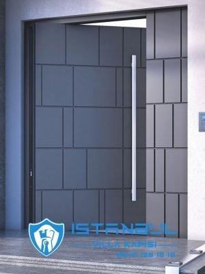 istanbul villa kapısı kompak lamine gri özel üretim villa kapısı steel doors haüsturen çelik kapı villa giriş kapısı camlı kapı modelleri kompozit villa kapısı