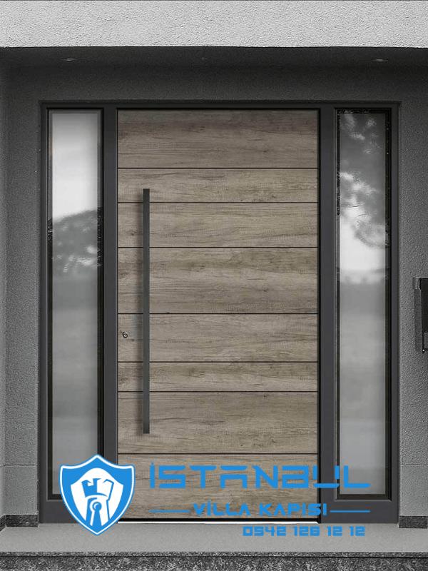 istanbul villa kapısı kompak özel üretim villa kapısı steel doors haüsturen çelik kapı villa giriş kapısı camlı kapı modelleri kompozit villa kapısı