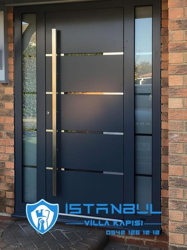 istanbul villa kapısı kompozit paslanmaz özel üretim villa kapısı steel doors haüsturen çelik kapı villa giriş kapısı camlı kapı modelleri kompozit villa kapısı