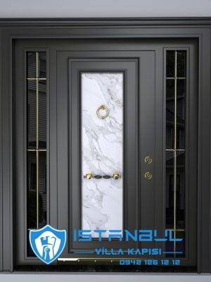 istanbul villa kapısı mermerli dış etneklere daanıklı özel üretim villa kapısı steel doors haüsturen çelik kapı villa giriş kapısı camlı kapı modelleri kompozit villa kapısı