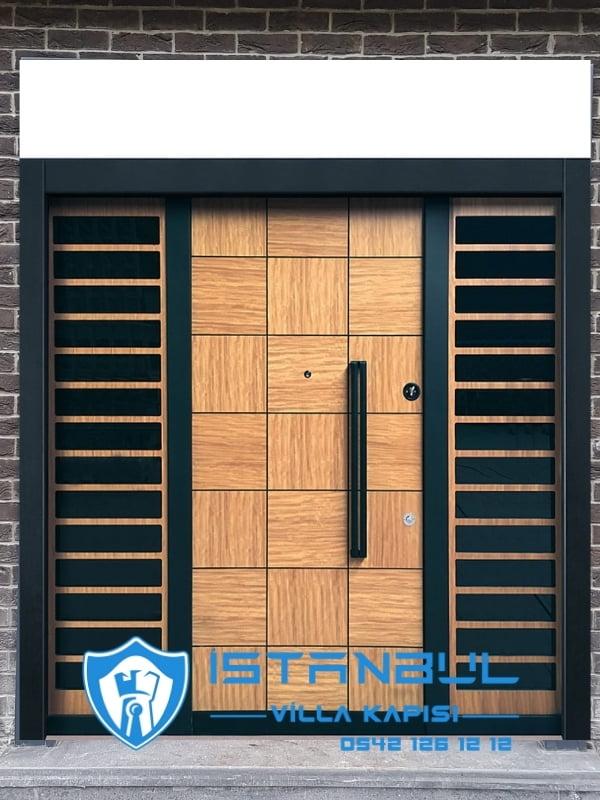 istanbul villa kapısı parçalı kompozit özel üretim villa kapısı steel doors haüsturen çelik kapı villa giriş kapısı camlı kapı modelleri kompozit villa kapısı