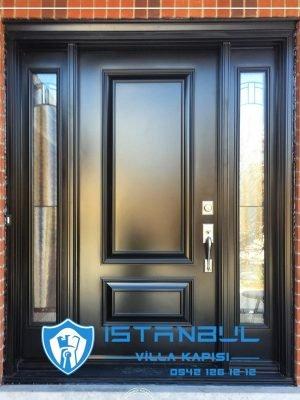 istanbul villa kapısı siyah özel üretim villa kapısı steel doors haüsturen çelik kapı villa giriş kapısı camlı kapı modelleri kompozit villa kapısı
