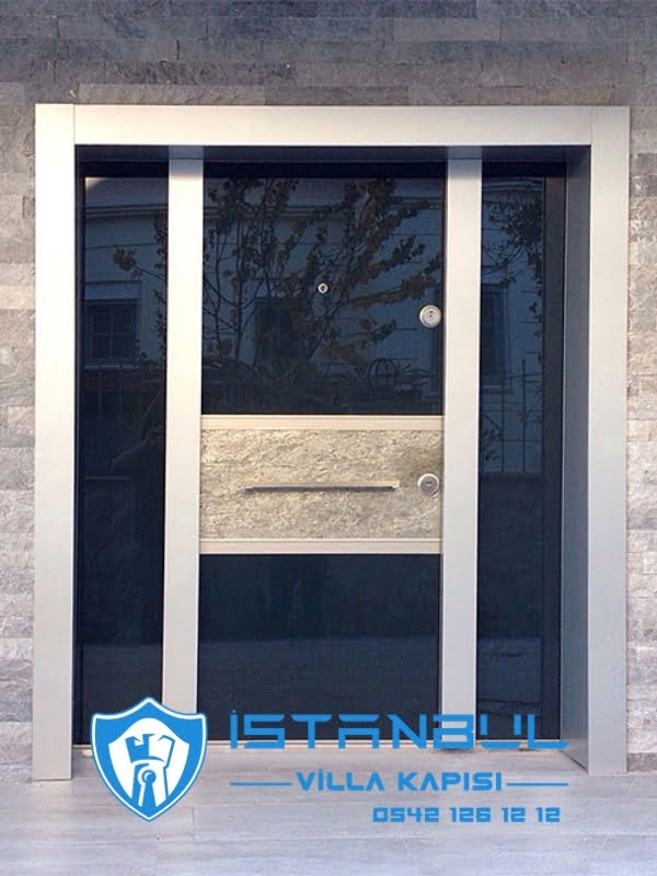 istanbul villa kapısı taş desenli özel üretim villa kapısı steel doors haüsturen çelik kapı villa giriş kapısı camlı kapı modelleri kompozit villa kapısı