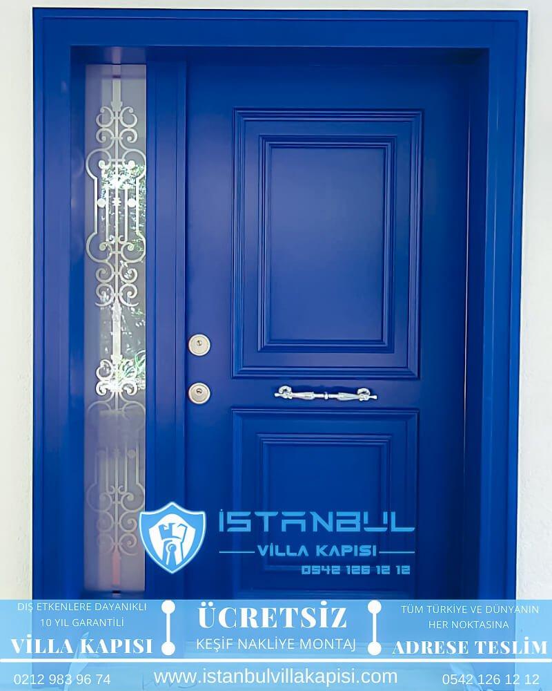 Mavi Villa Kapısı istanbul villa kapısı modelleri Haustüren DOORS entrance door steel doors