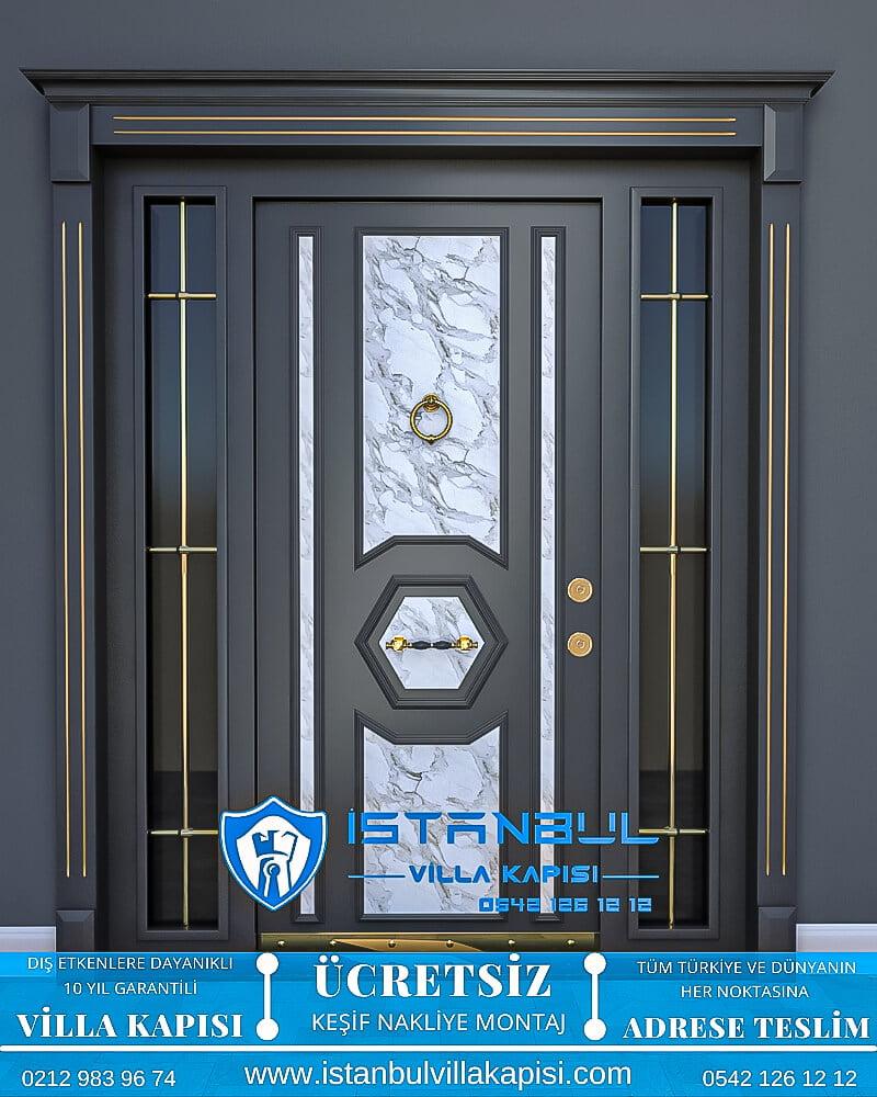 Mermer desenli istanbul villa kapısı villa kapısı modelleri istanbul villa giriş kapısı villa kapısı fiyatları