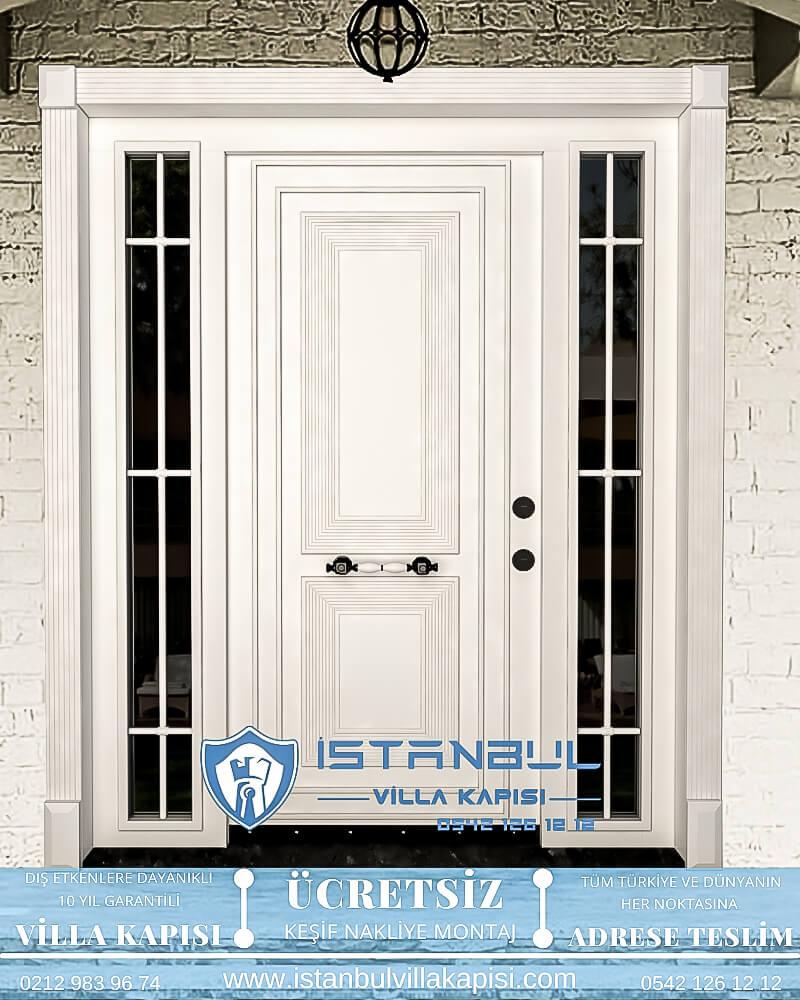 beyaz klasik istanbul villa kapısı villa kapısı modelleri istanbul villa giriş kapısı villa kapısı fiyatları-7