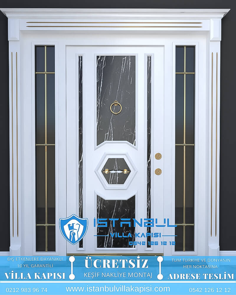 beyaz mermer istanbul villa kapısı villa kapısı modelleri istanbul villa giriş kapısı villa kapısı fiyatları-2