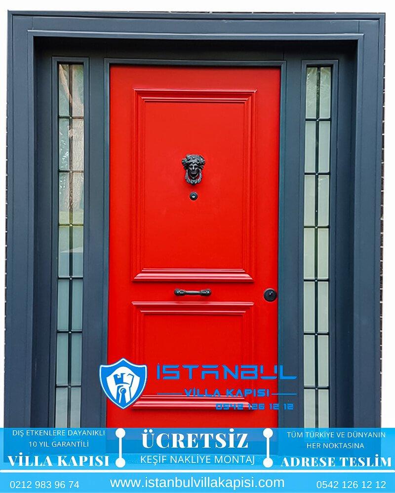 kırmızı antrasit istanbul villa kapısı villa kapısı modelleri istanbul villa giriş kapısı villa kapısı fiyatları Haustüren DOORS entrance door steel doors-13