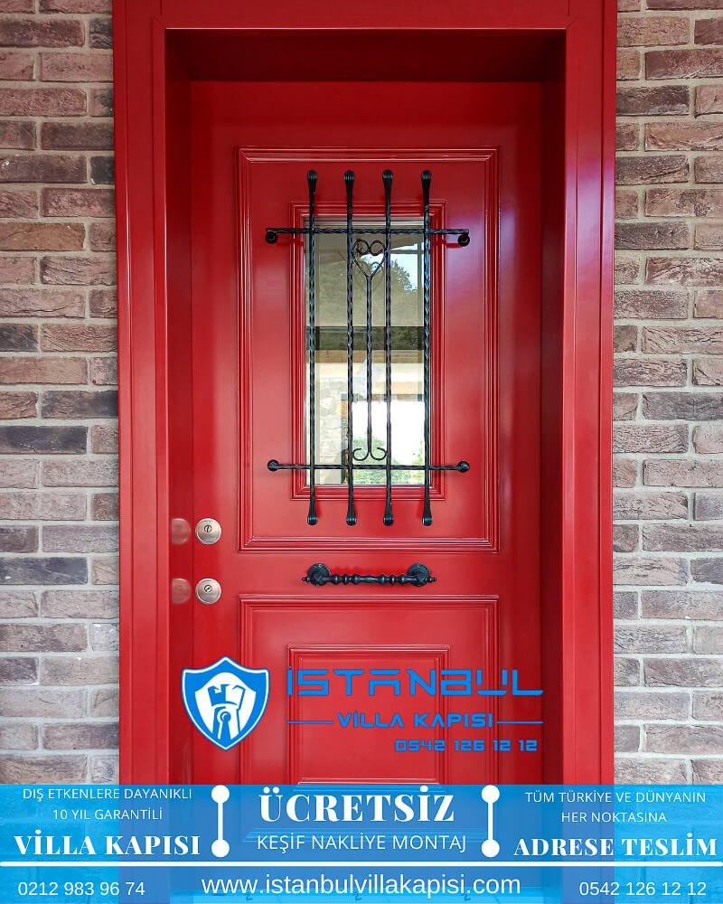 kırmızı camlı istanbul villa kapısı villa kapısı modelleri istanbul villa giriş kapısı villa kapısı fiyatları Haustüren DOORS entrance door steel doors-19