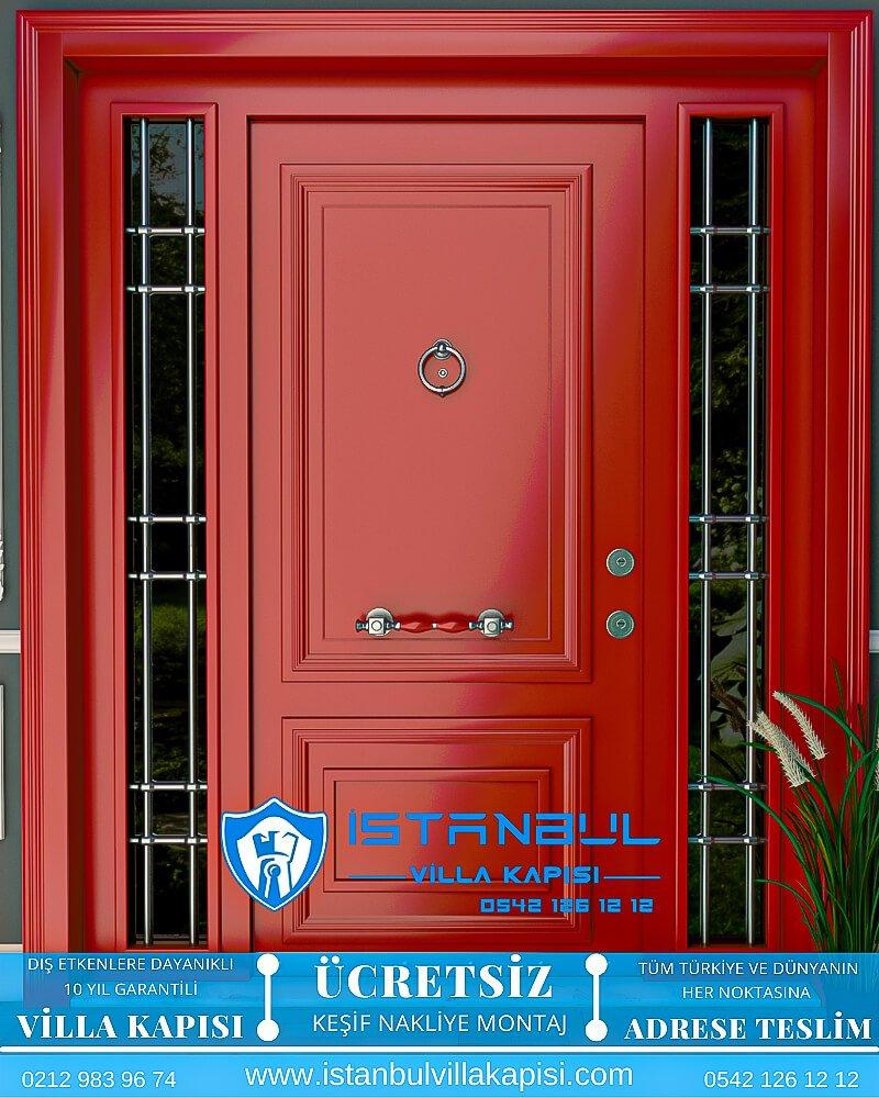 kırmızı istanbul villa kapısı villa kapısı modelleri istanbul villa giriş kapısı villa kapısı fiyatları Haustüren DOORS entrance door steel doors-4
